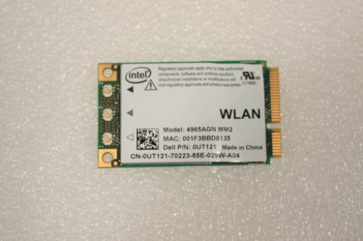 Dell Precision M4300 WiFi Wireless Card UT121 0UT121
