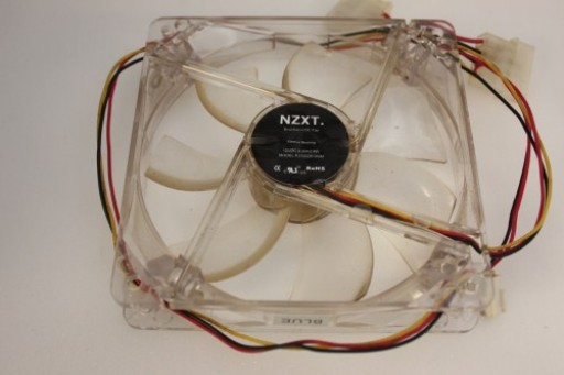 NZXT PC Case Cooling Fan Red LED 3 Pin FJ1202512SM 120x25mm