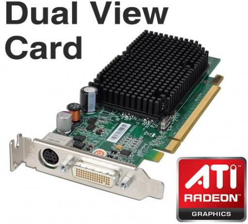 Dell ATi Radeon X1300 256MB PCI-E DMS-59 Dual View Graphics Card JJ461
