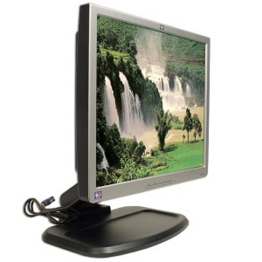 "17-inch HP L1740 17"" LCD Display Flat Panel TFT Monitor Black Silver"