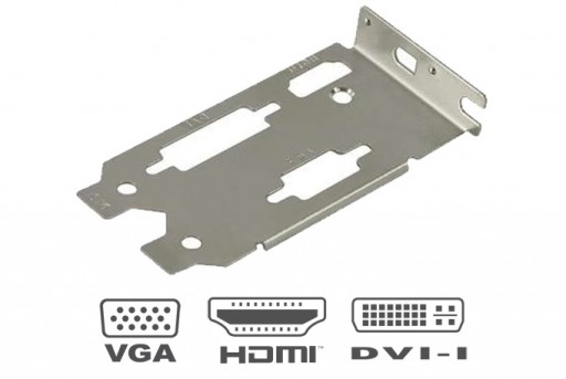 Low Profile Bracket HDMI DVI VGA Bracket for Video Graphics Card