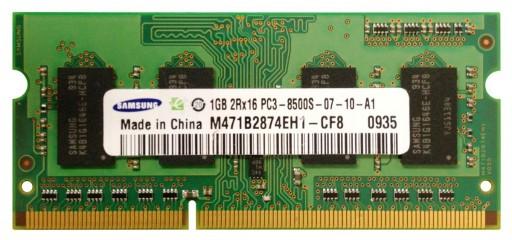 1GB Samsung DDR3 PC3-8500 Sodimm Laptop RAM Memory M471B2874EH1-CF8