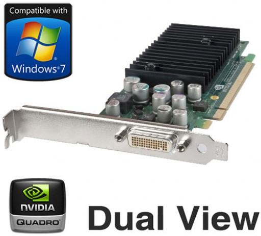 nVidia Quadro NVS 285 64MB DMS-59 Dual Display PCI-E Graphics Card