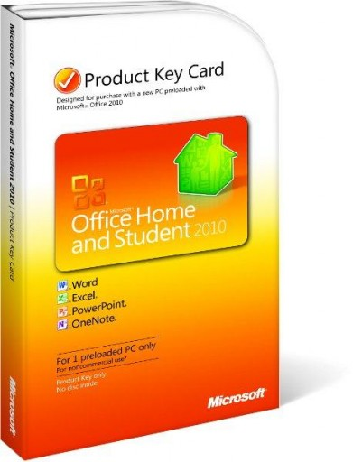 Microsoft Office Home and Student 2010 Keycard Version 79G-02020