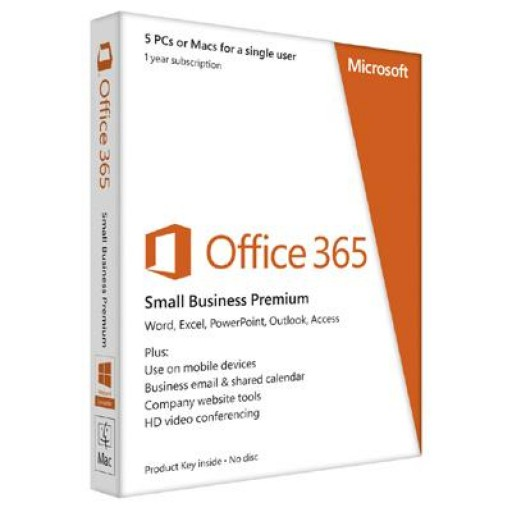 Microsoft Office 365 Small Business Premium 5 PCs or Macs Subscribe 1 Year 6SR-00005