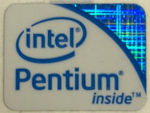 Genuine Intel Pentium Inside Case Badge Sticker (2nd 3rd Generation)