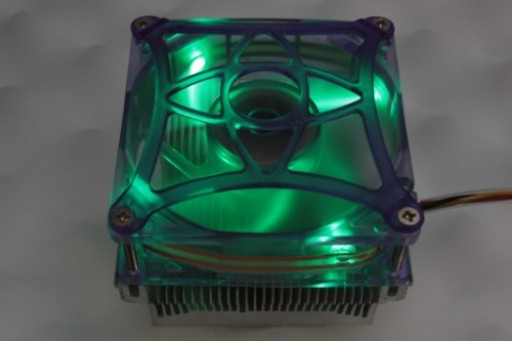 Speeze EEA30B4 CPU Heatsink Fan Green LED Lights 3 Pin