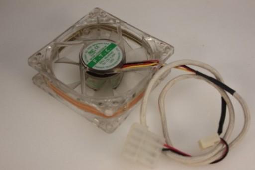 F.T.C. PC Case Cooling Fan FD08025B1M 3Pin 80 x 25mm Red Blue LED
