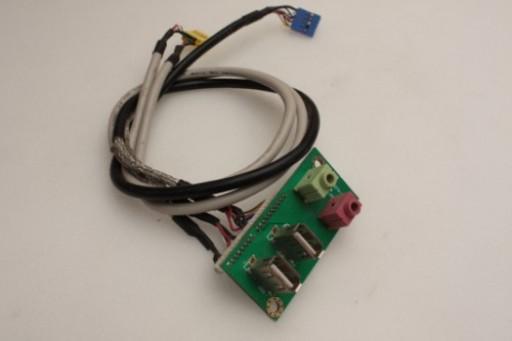 Packard Bell iMedia J2412 Front USB Audio Ports Panel