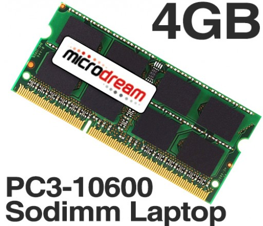 4GB (1x4GB) PC3-10600 1333MHz 204Pin DDR3 Sodimm Laptop Memory RAM