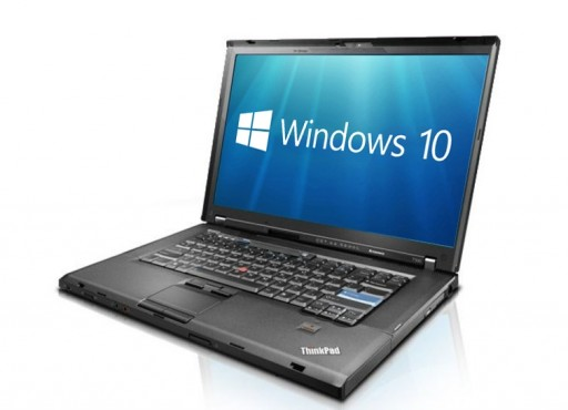 "Lenovo ThinkPad T500 15.4"" Core 2 Duo 4GB 160Gb DVD WiFi Windows 10 Professional Laptop PC"