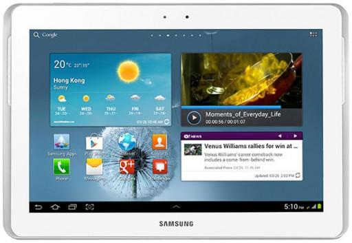 """Samsung Galaxy Tab 2 10.1"""" 16GB Wi-Fi + 3G (Unlocked) - White (Grade A)"""