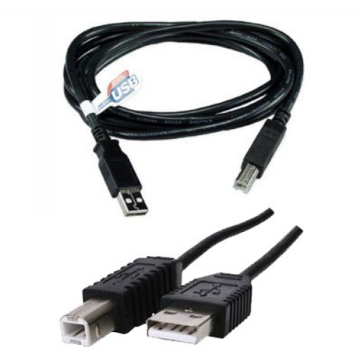 USB 2.0 Hi-Speed Black 1.8M A to B A-B Printer Cable