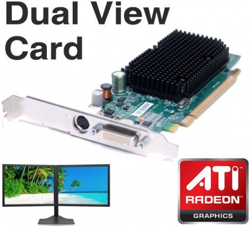 Dell ATI Radeon X1300 256MB PCI-E DMS-59 Dual Display TV-Out Graphics Card GJ501