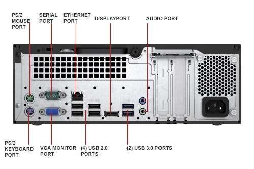HP ProDesk 400 G3 SFF Desktop PC - 6th Gen Intel Quad Core i5-6500 3 2GHz  8GB DDR4 128GB SSD DVDRW USB 3 0 WiFi Windows 10 Professional