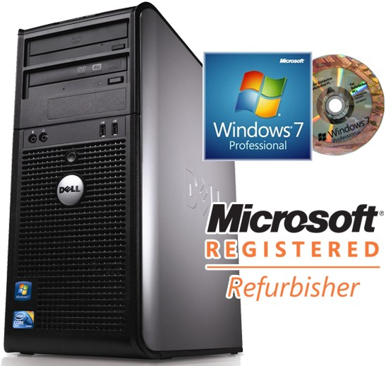 Dell OptiPlex 380 MT Dual-Core E5300 2 6GHz 2GB 160GB Windows 7  Professional Desktop PC Computer