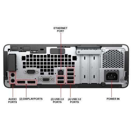 HP ProDesk 600 G3 SFF Desktop PC - 7th Gen Intel Quad Core i5-7500 3 4GHz  8GB DDR4 256GB SSD DVDRW USB 3 1 Type-C WiFi Windows 10 Professional