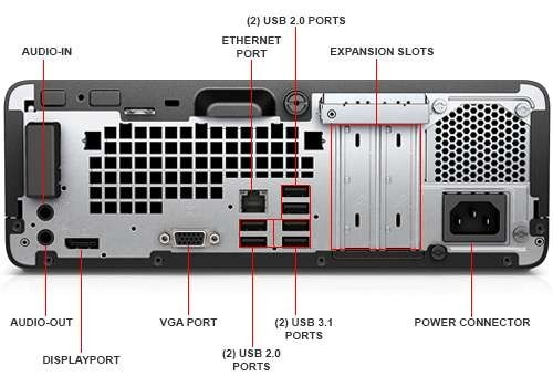 HP ProDesk 400 G4 SFF Desktop PC - 6th Gen Intel Quad Core i5-6500 3 2GHz  8GB DDR4 256GB SSD DVDRW USB 3 1 WiFi Windows 10 Professional