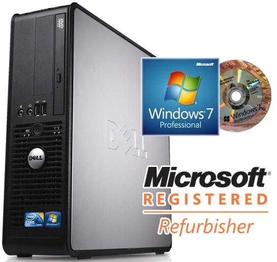 Dell OptiPlex 760 SFF Quad Core Q8400 2 66GHz Windows 7 Professional  Desktop PC Computer