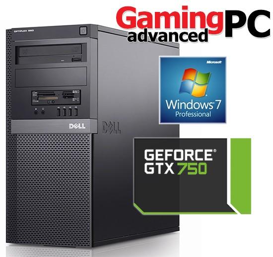 Gaming PC Dell 960 Core 2 Duo E8400 4GB GeForce GTX 750 Windows 7  Professional 64Bit Desktop Computer