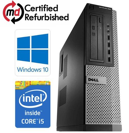 Dell OptiPlex 990 DT Quad Core i5-2400 8GB 1000GB DVDRW Windows 10 64-Bit  Desktop PC Computer