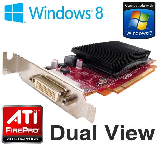 AMD FirePro 2270 512MB PCI-e DMS-59 Low Profile Dual Display Graphics Card