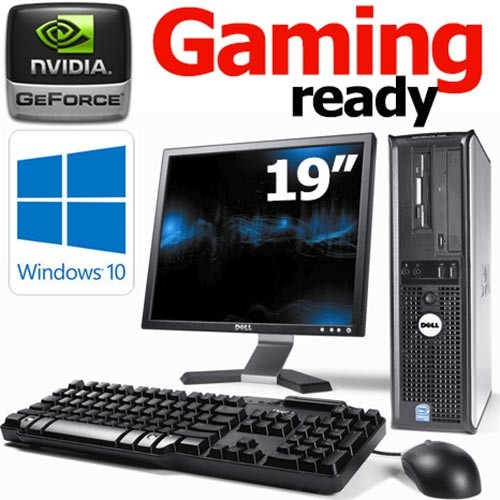 Complete Set of Gaming Ready Dell OptiPlex DT Dual Core 2 70GHz 8GB GT710  HDMI WiFi Windows 10 Desktop PC Computer