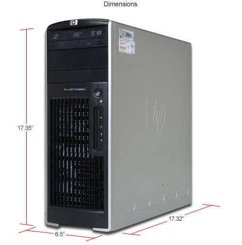 HP XW6400 Workstation PC 2x Dual Core Xeon 9 32GHz 2GB