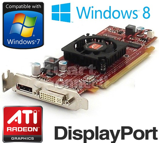 Ati Radeon Hd 4550 512mb Pci E Dvi Displayport Low Profile
