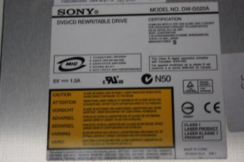 SONY DVD RW DW G520A WINDOWS 7 64BIT DRIVER