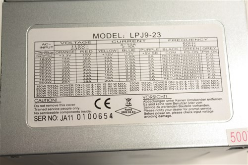 500W ATX PSU Power Supply Model LPJ9-23