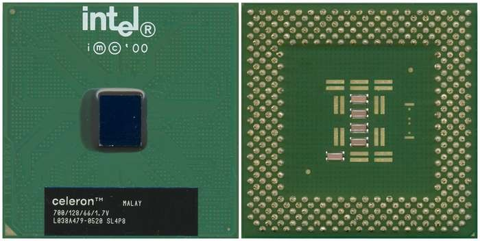 Intel Celeron CPU MicroProcessor SL4NX 600//128//66//1.7V BX80526F600128