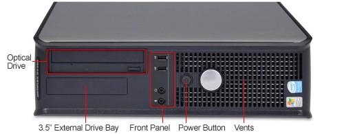 Windows 7, Dell Optiplex Desktop PC, Dual Core, 1GB Ram, 80GB Hard Drive