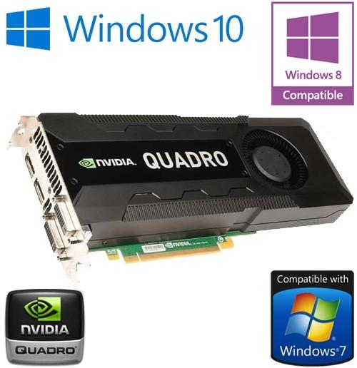 nVidia Quadro K5000 4GB GDDR5 PCI-E Dual DisplayPort 2x DVI Graphics Card  0CFTKF