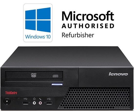Lenovo ThinkCentre M58p Core 2 Duo E8400 3 0GHz 4GB 160GB DVD Windows 10  Refurbished Computer