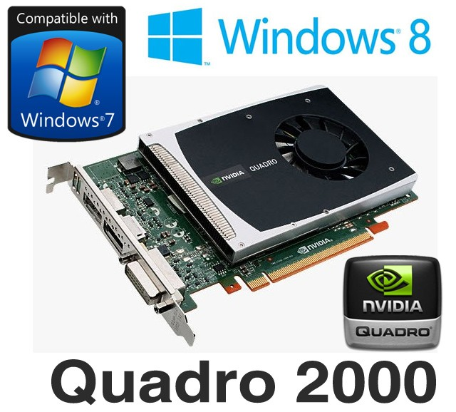 nVidia Quadro 2000 1GB DDR5 PCI-E Dual DisplayPort DVI Graphics Card
