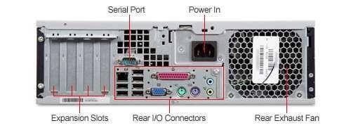 HP Compaq dc7800 SFF Core 2 Duo E6550 160GB Windows 7 Professional Desktop  PC Computer