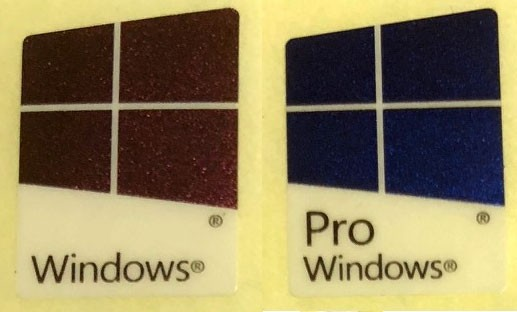 Windows 10 pro windows 10 logo badge sticker pvc laser colors