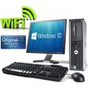 WiFi enabled Complete set of Dell OptiPlex Dual Core Windows 10 Desktop PC Computer
