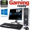Complete Set of Gaming Ready Dell OptiPlex DT Dual Core 2.70GHz 8GB GT710 HDMI WiFi Windows 10 Desktop PC Computer