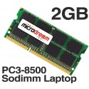 2GB (1x2GB) PC3-8500 1066MHz 204Pin DDR3 Sodimm Laptop Memory RAM