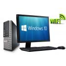 """Complete set of 22"""" Monitor and Dell OptiPlex Quad Core i5-2400 8GB 1000GB WiFi Windows 10 64-Bit  Desktop PC Computer"""