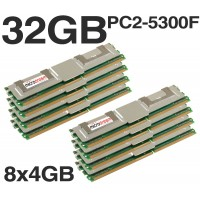 32GB (8x4GB) DDR2 PC2-5300F 667MHz ECC Apple Mac Pro 2006 2008 1.1 3.1