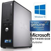 Windows 10, Dell Optiplex Desktop PC, Dual Core, 4GB Ram, 160GB Hard Drive, DVD