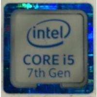 Genuine Intel Core i5 Inside Case Badge Sticker (7th Generation) 18mm x 18mm