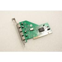 VIA 4 Port (VT6202 Chipset) USB PCI Adapter Card GM-VT6202A