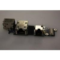 Dell Latitude D620 USB Ethernet LAN Socket Board LS-2792P