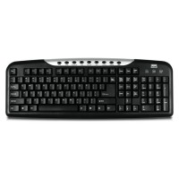 LMS Data K9020M UK USB Multimedia Keyboard with 9 hot keys - Black