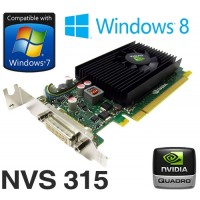 nVidia Quadro NVS 315 1GB PCIe x16 Dual Display DMS-59 Low Profile Graphics Card