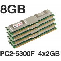 8GB (4x2GB) DDR2 PC2-5300F 667MHz ECC Fully Buffered SERVER MEMORY RAM HP DELL
